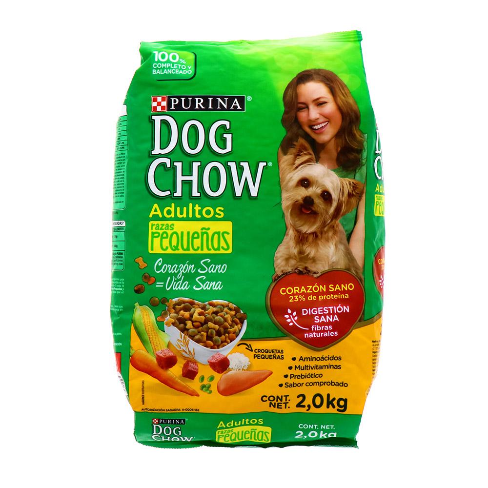 Comida Para Perro Adulto Dog Chow Raza Pequeña 2 Kg