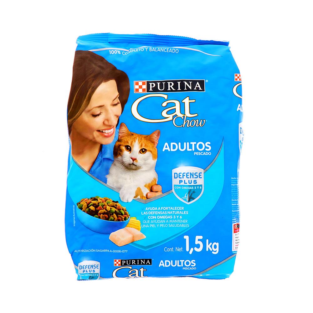 Comida Para Gato Adulto Cat Chow De Pescado 1.5 Kg
