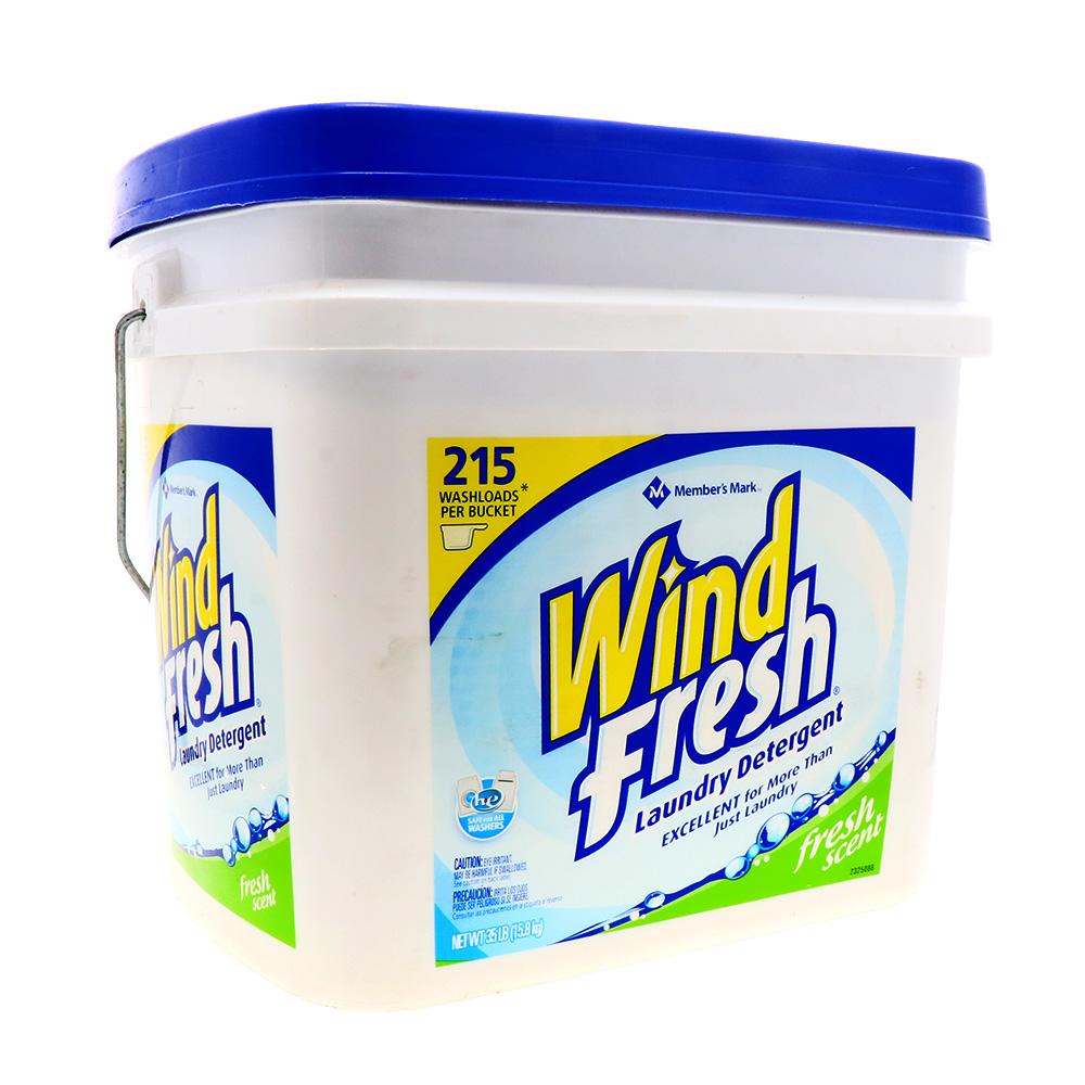 Detergente En Polvo Wind Fresh Aroma Fresco 215 Loads 35 Lb